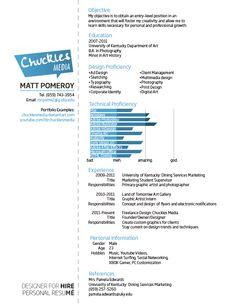 Creative Resume Design - Matt Pomeroy by ~ChucklesMedia on deviantART