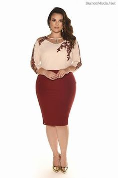 Great plus size fashion is hard to discover and I want to help you find it. Beautiful Plus size fashion is what we all deserve. Plus Size Dresses, Sexy Dresses, Plus Size Outfits, Fashion Dresses, Curvy Girl Fashion, Plus Size Fashion, Looks Plus Size, Moda Plus Size, Work Attire