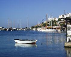 Akyarlar bay with a rowing boat