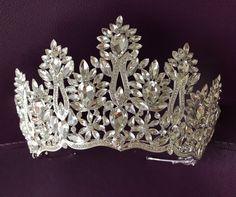 Silver Tiara Bridal Crown Crystal Wedding Tiara Wedding Hair | Etsy Bridal Crown, Bridal Tiara, Bridal Hairpiece, Wedding Dresses With Flowers, Wedding Dresses With Straps, Shoulder Jewelry, Silver Tiara, Wedding Gloves, Crystal Wedding