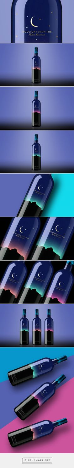 Moolight Up On The Helan Mountain Wine packaging designed by Pesign Design - http://www.packagingoftheworld.com/2015/08/moolight-up-on-helan-mountain.html