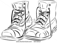 drawing old shoes on beach - Google Search