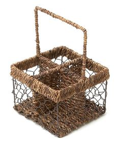 Look what I found on #zulily! Abaca Four-Section Caddy by Woodard & Charles #zulilyfinds