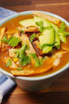 Slow-Cooker Chicken Tortilla SoupDelish