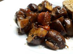 Mushrooms in balsamic vinegar - Rezepte - FingerFood İdeen Healthy Eating Tips, Healthy Nutrition, Healthy Snacks, Snack Recipes, Cooking Recipes, Vegetable Drinks, Mushroom Recipes, Food Menu, Finger Foods