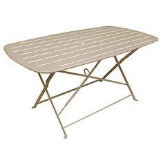 Table de jardin CITY GREEN rectangulaire argile douce 6 personnes ...