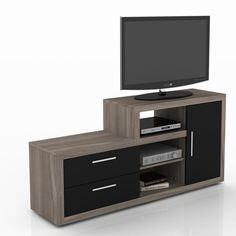 Tv Unit Furniture Design, Tv Stand Furniture, Tv Unit Interior Design, Home Office Furniture, Living Room Sofa Design, Living Room Tv, Home Theaters, Tv Wall Cabinets, Tv Stand And Entertainment Center