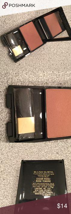 Lancôme blush and brush set NWT Lancôme blush and brush set NWT color Cedar Rose Lancome Makeup Blush