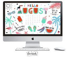 FREE! August 2016 Calendar + Tech Pretties | dawnnicoledesigns.com