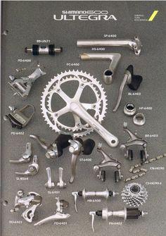 1993 Shimano Ultegra 600 ~ tears for gears