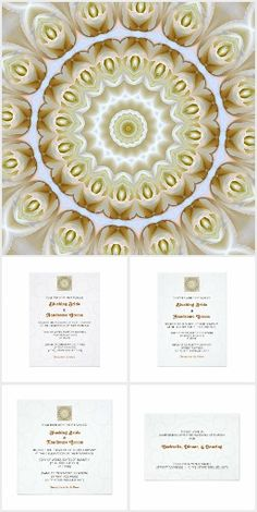 See Janusian Gallery's new collection of creamy Rose Mandala Invitations at the Zazzle store be_there_invitations* #mandala