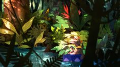 illustration of the dice, the blue. Jungle