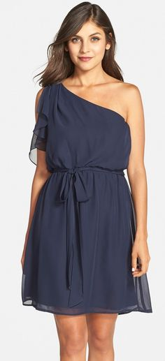 Cute bridesmaid dress -- LOVE the one shoulder style