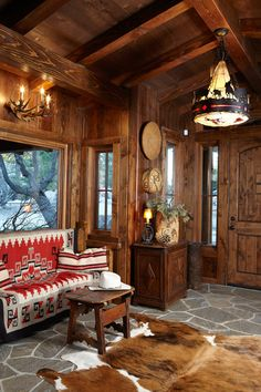 High-Castle | Idyllwild, CA. - 1928 Hunting Lodge w/Clark Gable in Residence - Cheryl Brantner Design | Photographer: Douglas Hill