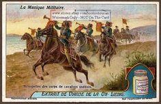 Swedish Horse Cavalry Trumpeters c1920 Card