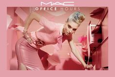 photo for MAC Cosmetics Office Hours Fall 2012 Makeup Collection Mac Pro, Mac Collection, Makeup Collection, Gala Darling, Miles Aldridge, Fishnet Stockings, Starting Your Own Business, Pretty In Pink, Makeup Tips