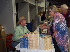 Abigail with Craig Johnson at the Kentucky Book Fair in Frankfort, Ky.