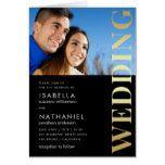 Gold & Black Typography Wedding Photo Invitation #weddinginspiration #wedding #weddinginvitions #weddingideas #bride