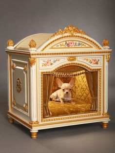 ༻⚜༺ ❤️ ༻⚜༺ Handmade Luxury Designer Dog Beds For Small Dogs | Dog Friendly Furniture | http://www.cuccioletto.com/collection/collection.php ༻⚜༺ ❤️ ༻⚜༺