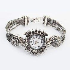 Peacock Band Quartz Bracelet Watch