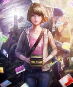 Max Caulfield and Chloe Price~Life is Strange by nababa