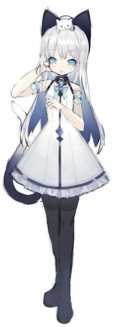 Lose the animal Kawaii Neko Girl, Loli Kawaii, Anime Girl Neko, Cool Anime Girl, Anime Child, Beautiful Anime Girl, Kawaii Art, Kawaii Anime, Anime Girls