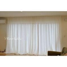 いいね!138件、コメント3件 ― リノテキスタイル リネン.コットンカーテン通販ショップ(@rinotextile)のInstagramアカウント: 「2階にあるリビングの掃き出し窓にリノのカーテンを選んでいただきました。  やわらかふんわりコットン「リノコトン」のスタイルカーテンとフレンチリネンレースの組み合わせです。…」 Curtains, Instagram, Home Decor, Blinds, Decoration Home, Room Decor, Draping, Home Interior Design, Picture Window Treatments