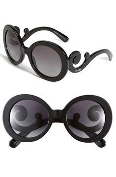 "Prada 'Baroque' Round Sunglasses  I so have these but no ""Prada"" and they were $10.00"