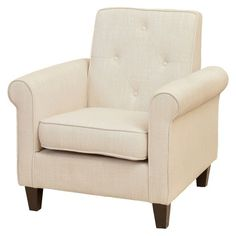 Isaac Tufted Beige Fabric Club Chair - Christopher Knight Home