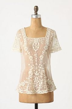 lace top - This one would be easy to make.
