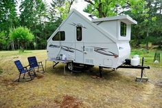 """A- Frame Pop- up Camper Trailer, """"Dormer"""" Chalet. Bath,with shower, U Sh. A Frame Trailer, Pop Up Camper Trailer, Small Trailer, Popup Camper, Camper Trailers, Travel Trailers, Airstream Campers, Camping Jeep, Camping Glamping"""