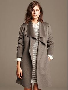 Draped Wool Coat, would work well as maternity outerwear too