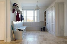 How To Design A Boot Room - Humphrey Munson Kitchens Laundry Room Storage, Storage Spaces, Laundry Rooms, Cupboard Storage, Storage Room, Garage Storage, Storage Ideas, Gray Interior, Interior And Exterior