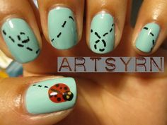 Ladybug nails! Cute.
