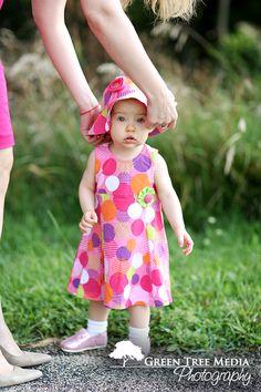 Pink Polka Dots and matching hat