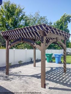 The pergola kits are the easiest and quickest way to build a garden pergola. There are lots of do it yourself pergola kits available to you so that anyone could easily put them together to construct a new structure at their backyard. Cedar Pergola Kits, Wooden Pergola Kits, Diy Pergola Kits, Aluminum Pergola, Vinyl Pergola, Wood Pergola, Outdoor Shelters, Building A Pergola, Climbing Vines