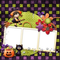"Photo from album ""Little Tricksters"" on Yandex. Marcos Halloween, Halloween 2014, Happy Halloween, Halloween Frames, Halloween Stuff, Scrapbook Frames, Halloween Scrapbook, Halloween Clipart, Borders And Frames"
