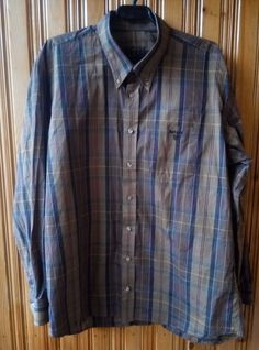 BARBOUR Mens Check Patterned SHIRT Button Down  Long Sleeved Size XXL