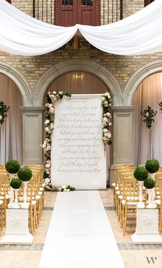 This Modern Fairytale personalized backdrop with gracious fonts and old world elegance give an exquisite look that is luxurious with a hint of modern flair. Display at your ceremony with faux moss and wicker pomanders displayed on shabby chic spindle votive holders for an entire modern fairytale look.