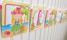 Personalized Luau Happy Birthday Banner  Choose by ciaobambino, $16.00