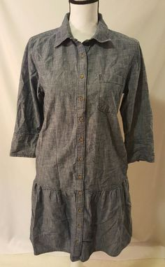 Womens Gap Denim Style Button Front Tunic Shirt Dress Size Medium #704 | Clothing, Shoes & Accessories, Women's Clothing, Dresses | eBay!