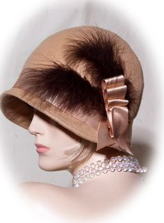 vintage inspired cloche 1920s hat by aileens4hats on Etsy, £30.00