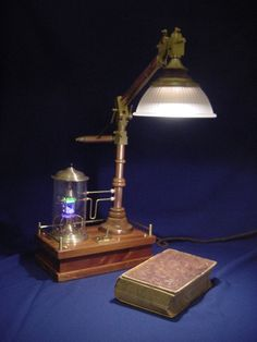 Desk Lamp - Make it with a mini lava lamp - looks like a tesla coil? (teslapunk?)