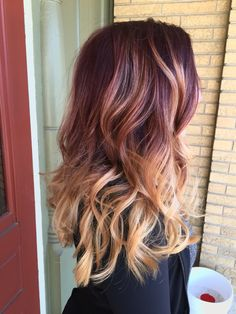 Red to blonde bayalage