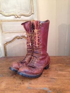 Wesco West Coast Shoe Co. Logging Engineering Motorcycle Boots Mens 10 1/2 - 11 #Wesco #Boots