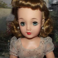 "Vintage Blonde MIss Revlon Doll In Original Tagged DRess 18"" Circa 1956 from Stuck On Dolls - stuckondolls@gmail.com for $175.00"
