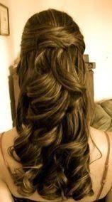 Resultado de imagem para cabelos penteados semi preso