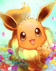 Eevee Cute, Pokemon Eevee Evolutions, Cute Pikachu, O Pokemon, Pokemon Fan Art, Pikachu Kunst, Pikachu Art, Eevee Wallpaper, Cute Pokemon Wallpaper