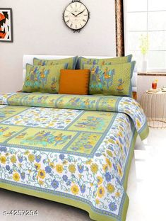 Bedsheets Eva Stylish Cotton Bedsheets  Fabric: Pure Cotton No. Of Pillow Covers: 2 Thread Count: 180 Multipack: Pack Of 1 Sizes:  Queen (Length Size: 100 in Width Size: 90 in Pillow Length Size: 27 in Pillow Width Size: 17 in)  Work : Printed Country of Origin: India Sizes Available: Queen *Proof of Safe Delivery! Click to know on Safety Standards of Delivery Partners- https://ltl.sh/y_nZrAV3  Catalog Rating: ★4 (14880)  Catalog Name: Eva Stylish Pure Cotton 100x90 Double Bedsheets Vol 1 CatalogID_609445 C53-SC1101 Code: 673-4257294-