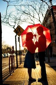 love under an umbrella